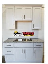 White Shaker Kitchen and Bath Cabinets Fully Assembled