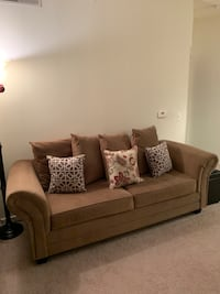 Tan Microfiber Love Sofa Used with Loving Care Silver Spring, 20910
