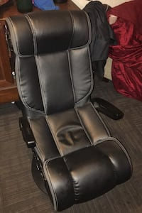 Black leather gaming chair Scappoose, 97056