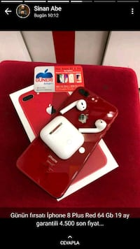 PRODUCT RED iPhone 7 Plus airpods ekran görüntüsü ile 9354 km