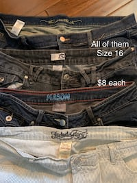 Comfortable stretchy jeans size 16 Wilmot, N3A