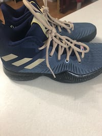 Pair of blue-and-tan adidas shoes Ellensburg, 98926