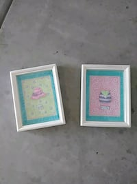 two pink hat and white purse paintings and white f Madera, 93638