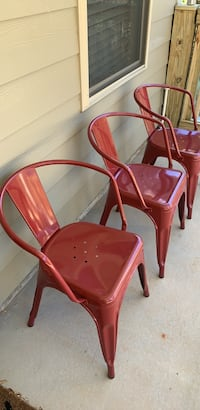 Red dining chairs (set of 4)   Columbus, 31909