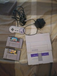 SNES with 2 games