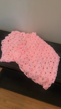 Adorable Handmade Crochet Pink Blanket