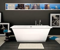 MUST SELL - MAAX Optic 6636 acrylic free standing bath tub - BRAND NEW in box - c/w 2 factory installed chromatherapy lights and F2 drain kit - MSRP is $5350 US Calgary, T2Y 3J8