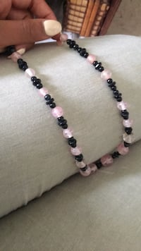 Black and white beaded necklace  Winnipeg