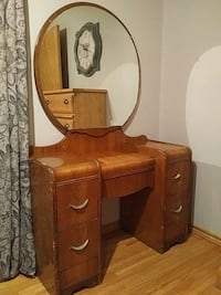 brown wooden dresser with mirror Edmonton, T5C 2S5