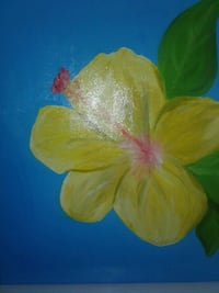 yellow and red flower painting Clarksburg, 20871