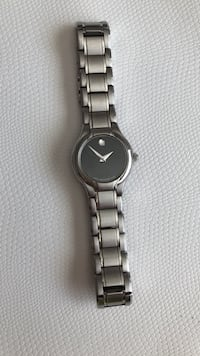 round silver analog watch with link bracelet Los Angeles, 91335