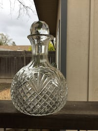 clear cut glass vase with lid Windsor, 95492