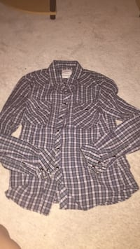 brown and gray checked button-up sport shirt Bradford, L3Z 3H6