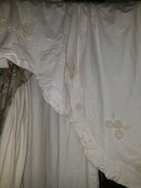 White with embroidering curtain set 646 mi