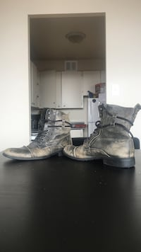 brown leather combat boots Toronto, M3N 2W2