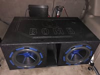 5400 Watts!!! 2 12s! Subs, box, amp, and capacitor all included! Chevy Chase, 20815