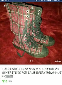 Tuk brand plaid high tops