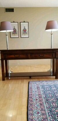 brown wooden bed headboard and footboard Mississauga, L5R 3K4