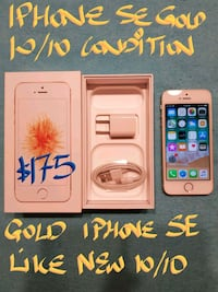 TRADEorFirm$175 GOLD IPHONE SE 16GB +Charger+box  Beaconsfield, H9W 2E1