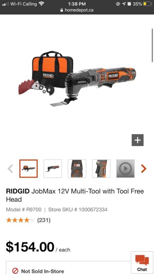 Ridgid multi tool full kit 0