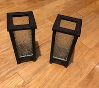 Candle holders glass/wood stand 9inces tall Port Saint Lucie, 34983