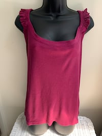Elle Purple Ruffled Tank Top