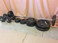Fitness Bundle: Weight Plate Set, Olympic bar, Power Tower/Pull-up/Dip Station Schenectady, 12305