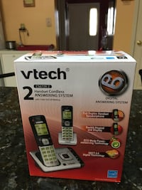 Vtech 2 handset cordless answering system box.  Credit cards welcome.                  box West Cocalico, 17517