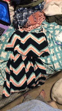 Pink/White/Mint/Navy Chevrons dress Woodbridge, 22192