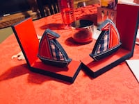 Two child book ends. Sail boats   Richmond, 56368