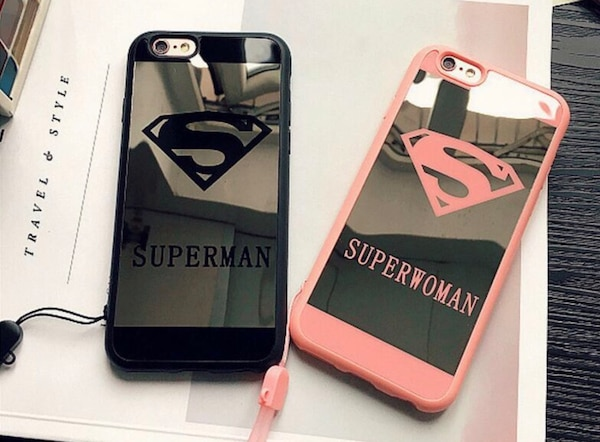 Two black and white iphone cases
