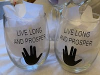 STAR TREK STEMLESS WINE GLASSES AND DECALS!! Maryland Heights, 63043