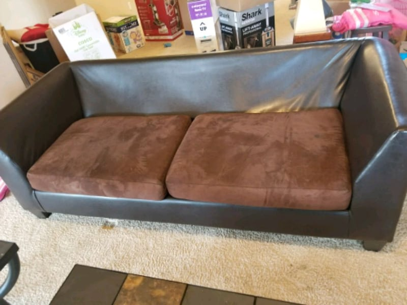 Leather and Suede Couch   ec29d925-aae4-4394-92a8-406fd6dbc6b2
