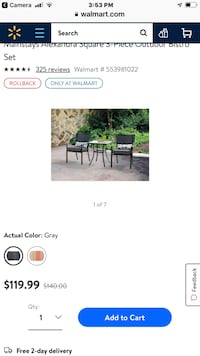 Bistro set new in a box store pull retail x 120