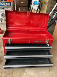 brown and red wooden tool chest Garden Grove, 92840