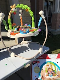 Baby's white and blue jumperoo Markham, L6E 0R4