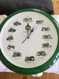 Jd wall clock with tractors sounds on the hrs