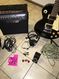 black and beige electric guitar Augusta, 30907