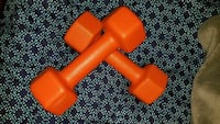 pair of orange fixed weight dumbbells Waukegan, 60085