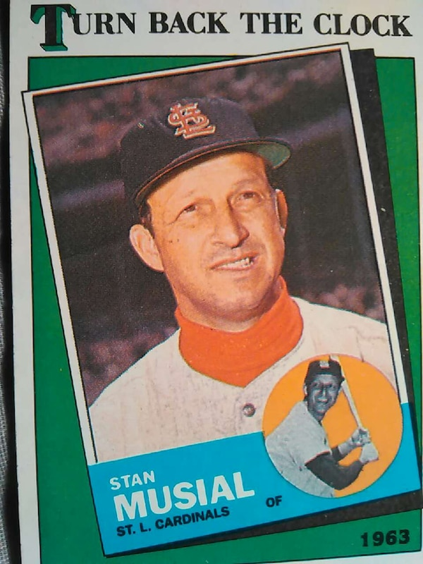Turn Back The Clock Stan Musial Baseball Card