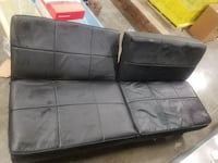 black leather 2-seat sofa WASHINGTON