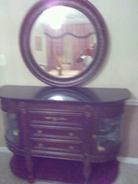 purple and black wooden dresser with mirror Hyattsville, 20785