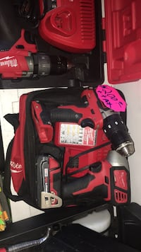 red and black Milwaukee cordless drill East Chicago, 46312