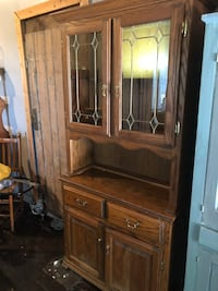 Solid Oak lighted China Cabinet Fredonia, 14063