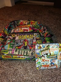 Marvel backpack and matching tin Bloomington, 47404