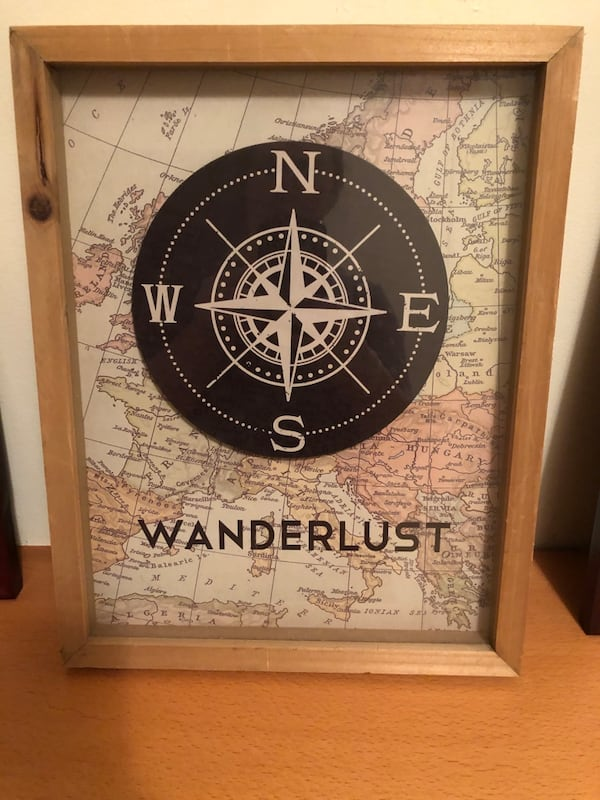 Shadowbox Wanderlust Picture 8 in x 10 in 344b18c1-7729-4353-851b-ab6ac98f1d37