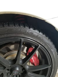 "Avanti Black Rims 18"" x 8 + Falken  [PHONE NUMBER HIDDEN] V XL Winter tires Richmond Hill"