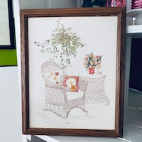 Vintage Rocking Chair Plants Flowers Picture