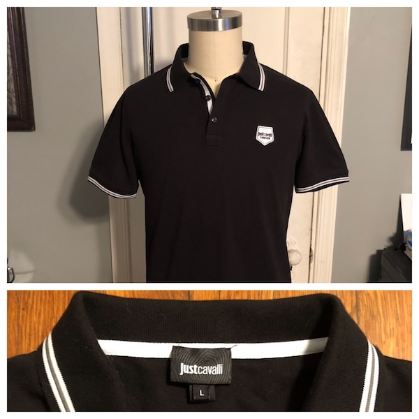 Just Cavalli men's polo shirt paid $170 size L good condition