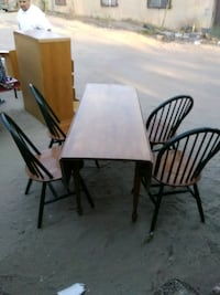 Solid wood Mid Century drop leaf table and chairs Albuquerque, 87102